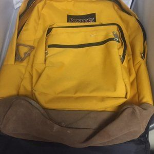 Jansport backpack leather bottom #BagA